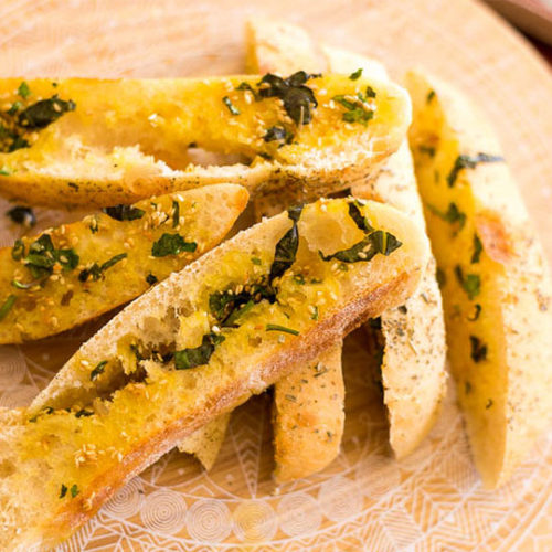 Foccacia garlic bread